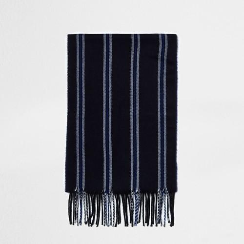 Navy stripe scarf
