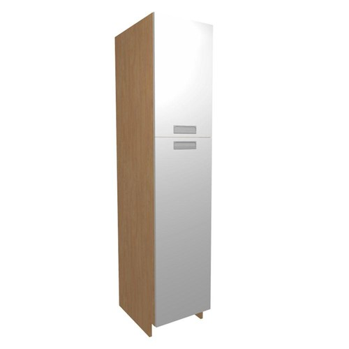 Home Decorators Collection Genoa Ready to Assemble 18 x 84 x 24 in. Pantry/Utility Cabinet with 2 Soft Close Doors in Bianco