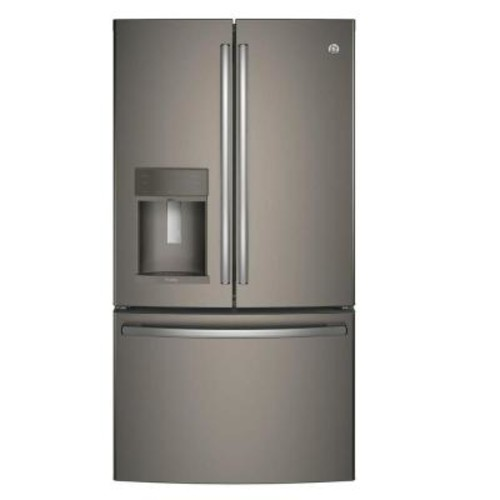 GE Profile 35.75 in. W 22.2 cu. ft. French Door Refrigerator with Hands Free Autofill in Slate, Counter Depth, ENERGY STAR