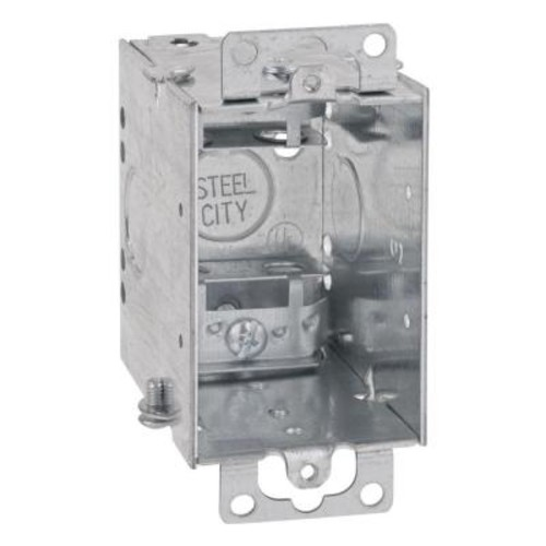 1 Gang 14 cu. in. Pre-Galvanized Steel Gangable Old Work Switch Box (Case of 25)