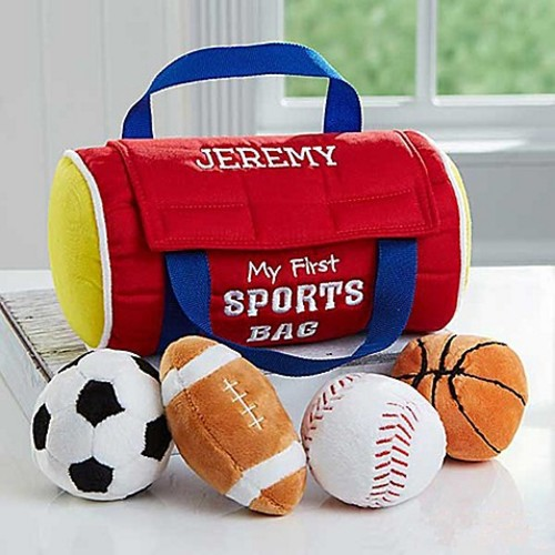 Embroidered My First Sports Bag by Baby Gund