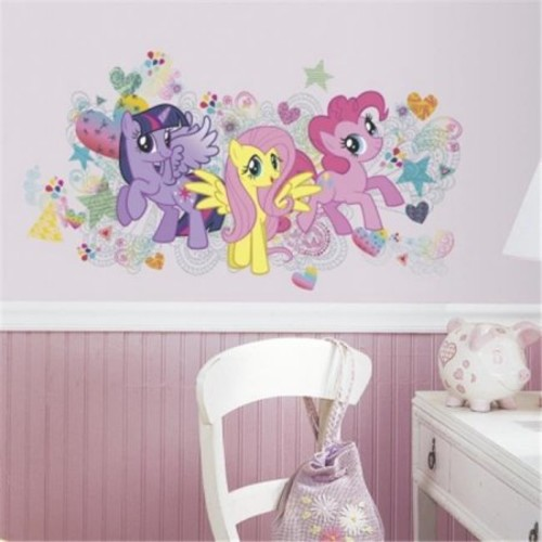 RoomMates 5 in. x 19 in. Peel and Stick My Little Pony Wall Graphics 6-Piece Giant Wall Decal