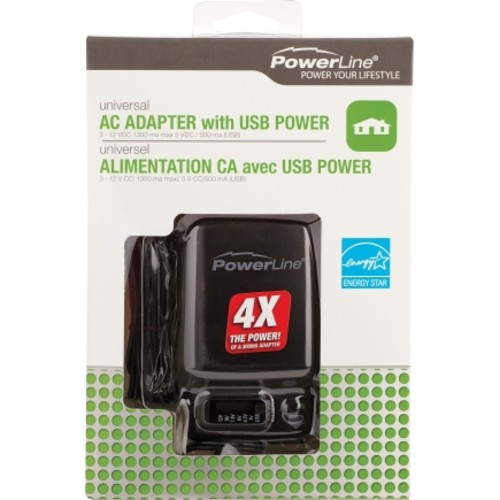 PowerLine AC Adapter With USB 1(90382/12)