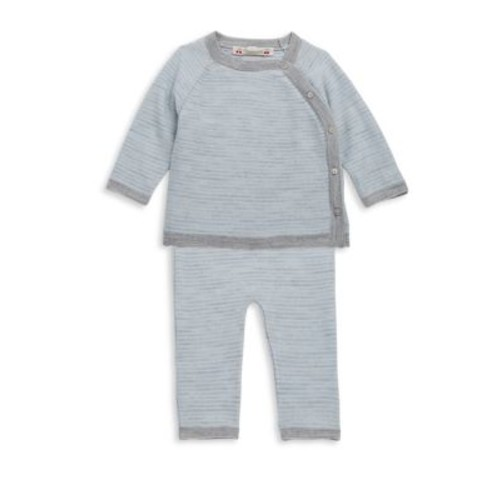 Baby's & Toddler's Two-Piece Striped Wool Top and Pants Set