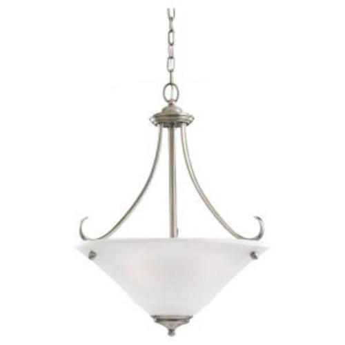 Sea Gull Lighting Parkview 3-Light Antique Brushed Nickel Pendant