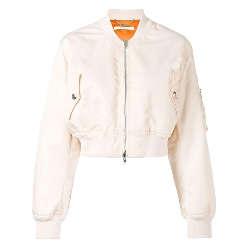 GIVENCHY Cropped Satin Bomber Jacket