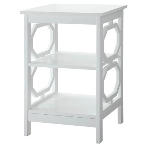 Omega End Table White - Convenience Concepts