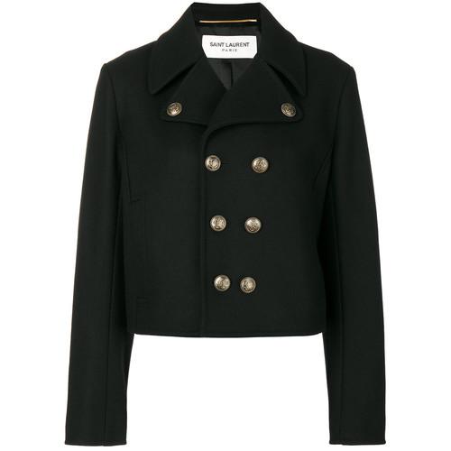 SAINT LAURENT Short Peacoat Jacket