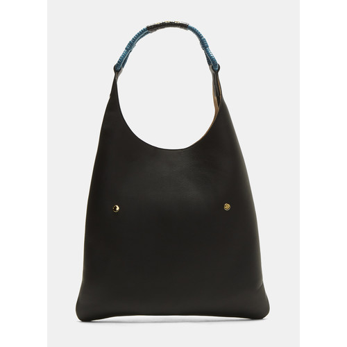 Waikiki Leather Shoulder Bag in Black