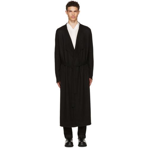 RICK OWENS Black Long Cashmere Cardigan