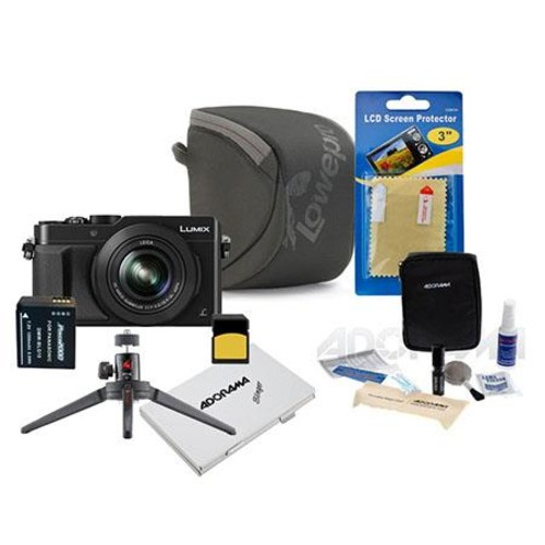 Panasonic Lumix DMC-LX100 Digital Camera with Premium Kit, Black DMC-LX100K B
