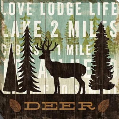Simple Living Deer by Michael Mullan Framed Vintage Advertisement on Wrapped Canvas