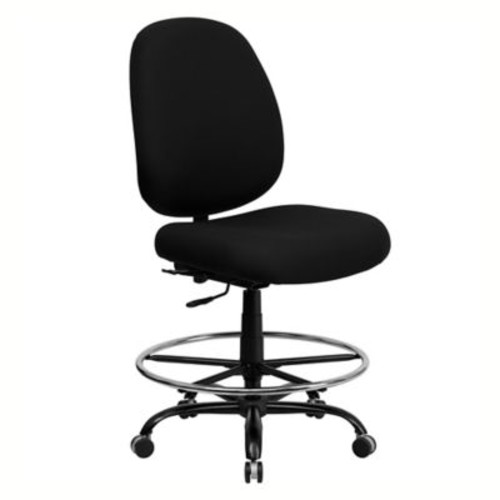 Flash Furniture Big and Tall 44.5-Inch - 52.5-Inch Office Chair in Black