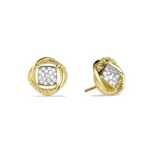 Infinity Earrings with Diamonds in G