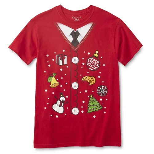 Men's Ugly Christmas Sweater Graphic T-Shirt [Fit : Men's]