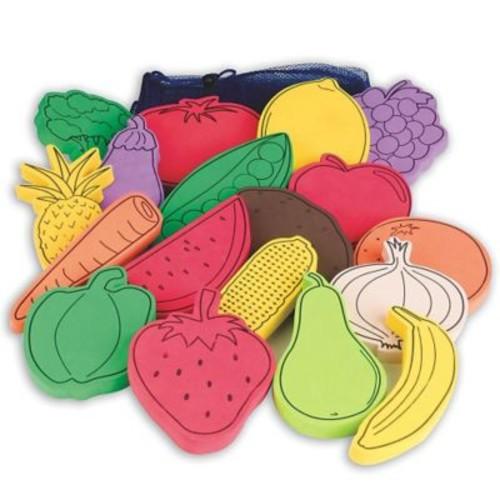 S&S Flat Foam Foods, Fruit and Veggies, 18/Set