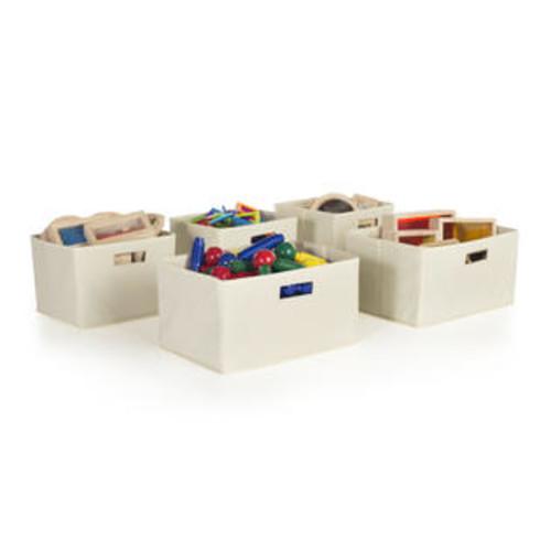 Guidecraft Tan Storage Bins - Set of 5