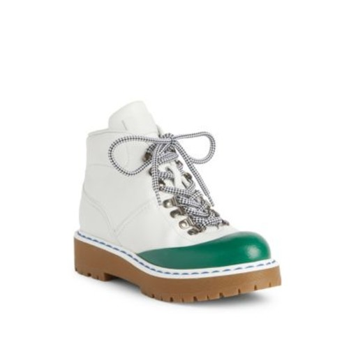 Leather Cap Toe Hiking Boots
