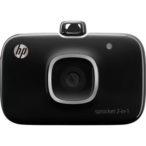 HP - Sprocket 2-in-1 Photo Printer - Black