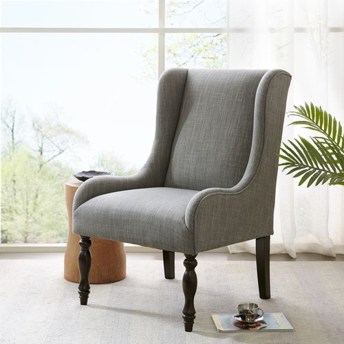 Madison Park Klaus Slate Turned Leg Wing Chair