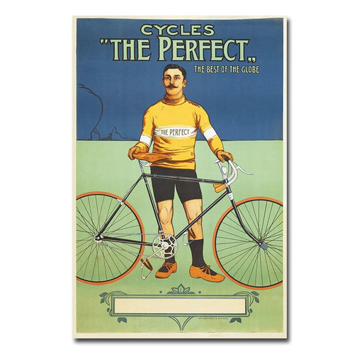 Trademark Fine Art The Perfect Bicycle, 1895 Canvas Wall Art, 16x24-Inch [16 by 24-Inch]