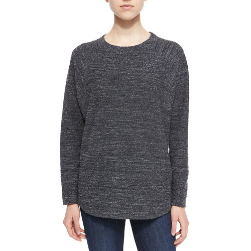 VINCE Textured Knit Long-Sleeve Top