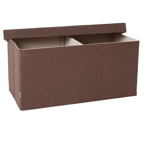JJ Cole Storage Bench - Cocoa Heather