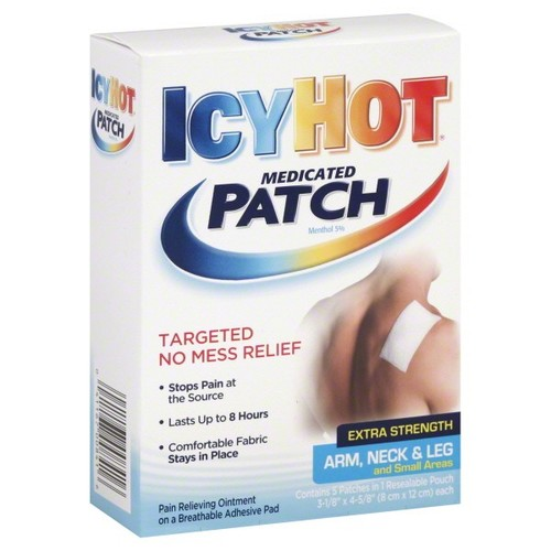 Icy Hot Medicated Patch, Extra Strength, Arm, Neck, & Leg and Small Areas, 5 patches