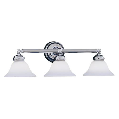 Designers Fountain 4963 Opal Essence 3 Light Bath Bar in Chrome Finish