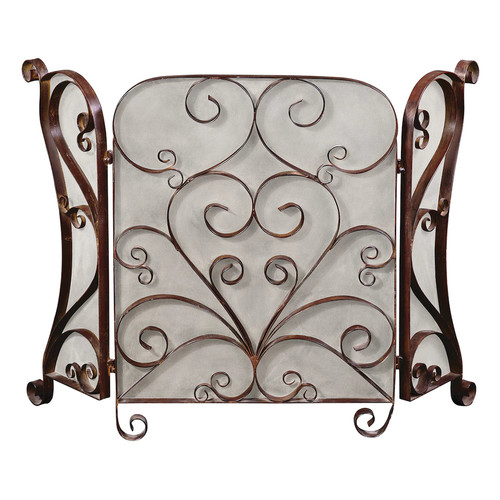 Daymeion Scroll Fireplace Screen