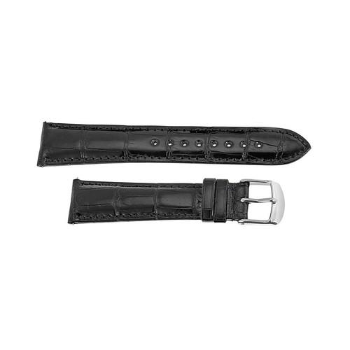 Black Alligator Watch Strap, 20mm