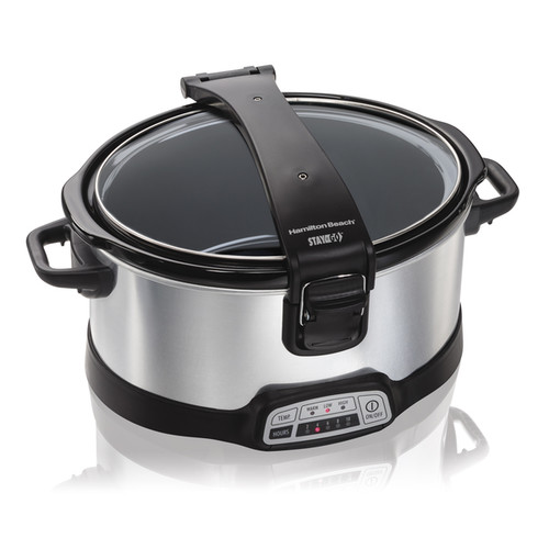 Hamilton Beach Silver 6 Quart Programmable Stay or Go Slow Cooker