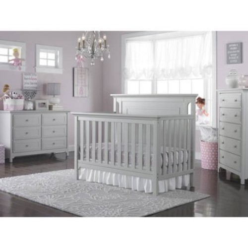 Ti Amo Carino Convertible Crib - Misty Grey