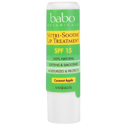 Babo Botanicals Nutri-Smooth Lip Treatment SPF 15 Coconut Apple -- 0.15 oz