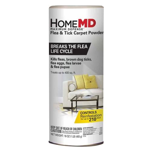 Home MD Maximum Defense Flea & Tick Carpet Powder