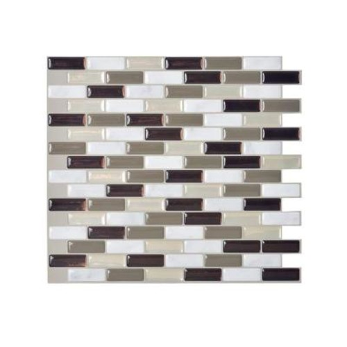 Smart Tiles Murano Stone 10.2 in. W x 9.10 in. H Peel and Stick Decorative Mosaic Wall Tile Backsplash (12-Pack)