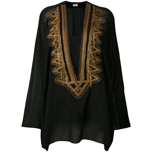 SAINT LAURENT Embroidered Kaftan