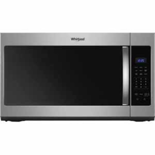 Whirlpool 1.7 cu. ft. Microwave Hood Combination with Electronic Touch Controls - Black-on-Stainless