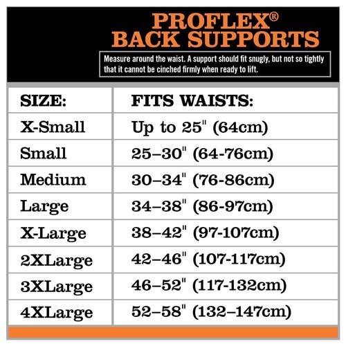 Ergodyne ProFlex 1650 Economy Elastic Back Support Belt, Large, Black [Large]