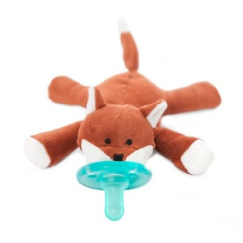WubbaNub Fox Infant Pacifier in Brown