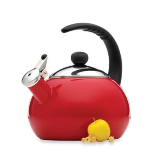 Farberware Luna 2.5-Quart Tea Kettle in Red