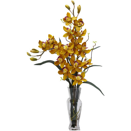 Cymbidium Silk Flower Arrangement, Yellow