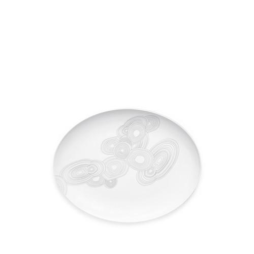 White Malachite Oval Plate