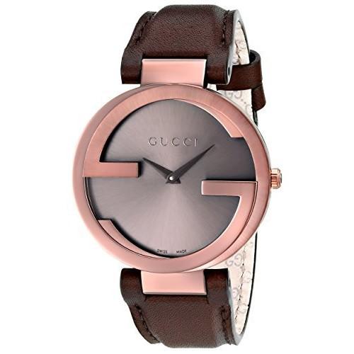 Gucci Interlocking Brown Strap Women's Watch(Model:YA133309)