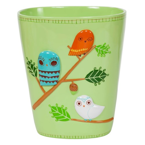Creative Bath Give A Hoot Ceramic Waste Basket