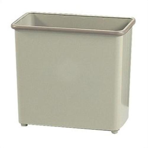 Safco Sand Rectangular Wastebasket 27.5 Quart (Set of 3)