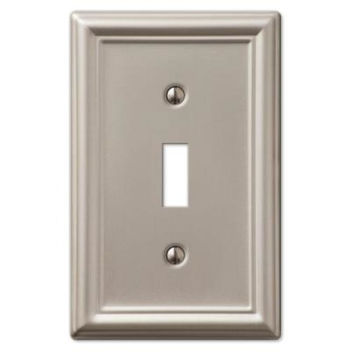 Chelsea 1 Toggle Wall Plate - Brushed Nickel-DISCONTINUED