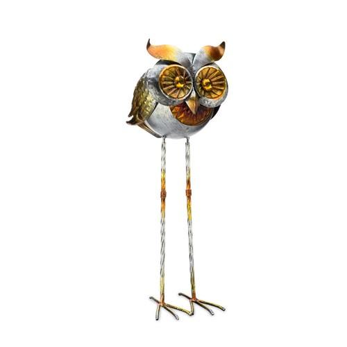 Solar Powered Dual Use Metal Garden Decorative Owl Light