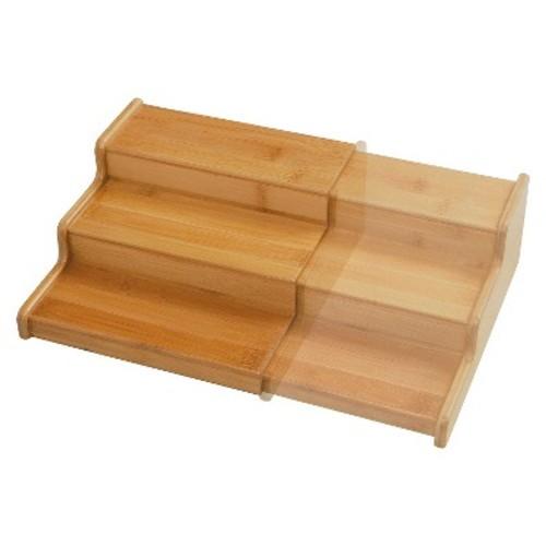 Seville 3-Tier Expandable Bamboo Spice Organizer Shelf - Natural