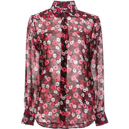 SAINT LAURENT Paris Collar Printed Shirt